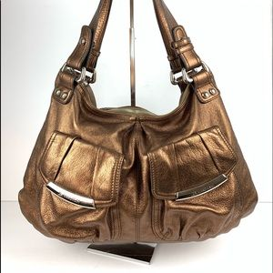 ☮️ B makowsky copper bronze metallic hobo handbag